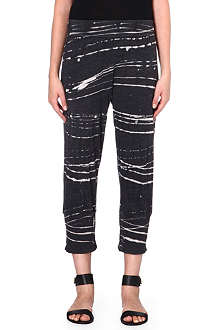 RAQUEL ALLEGRA Printed jersey jogging bottoms