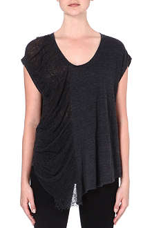 RAQUEL ALLEGRA Shredded-side jersey t-shirt