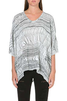RAQUEL ALLEGRA Oversize shred-print t-shirt