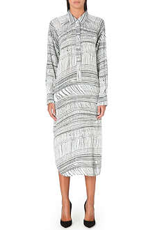 RAQUEL ALLEGRA Poet printed shirt dress