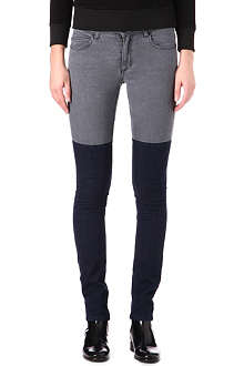 SURFACE TO AIR Horizontal-panel skinny mid-rise jeans