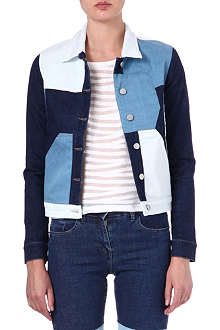 SURFACE TO AIR Cropped Only denim jacket