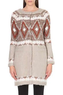 FREE PEOPLE Fair Isle long cardigan