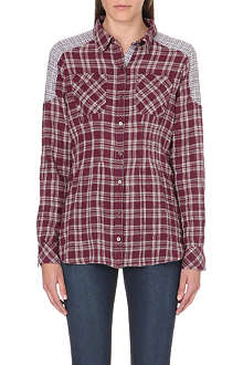 FREE PEOPLE Winter Plaid flannel shirt