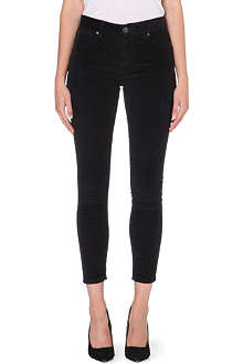 FREE PEOPLE Skinny mid-rise corduroy trousers