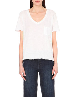 FREE PEOPLE Scoop-neck cotton t-shirt