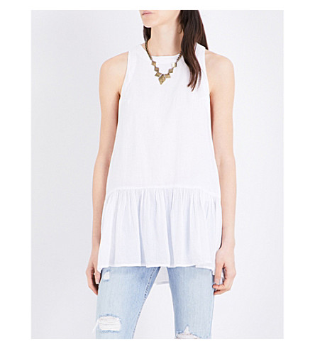FREE PEOPLE Breathless Moments cotton top (White
