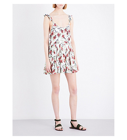 FREE PEOPLE Dear You floral dress (Neutral+combo