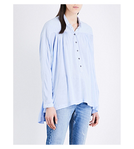 FREE PEOPLE Lovely Day woven shirt (Blue