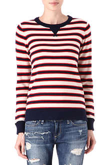 CARDIGAN Merino striped jumper