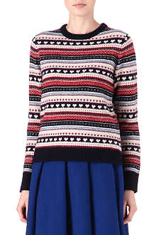 CARDIGAN Fair Isle crew neck jumper