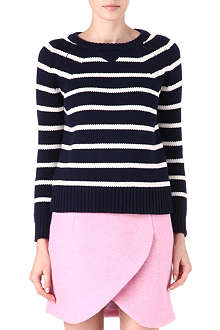 CARDIGAN Theo striped cotton jumper