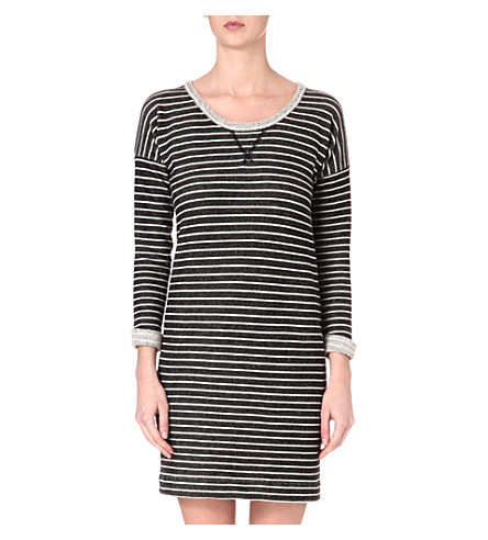CARDIGAN Colette striped dress (Black/winter white