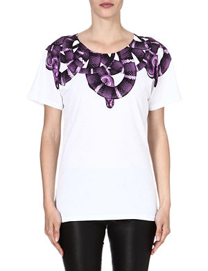 MARCELO BURLON Moon snake-print t-shirt