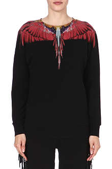 MARCELO BURLON Sidney feather-print sweatshirt