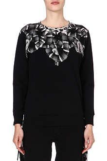 MARCELO BURLON Snake-print cotton sweatshirt