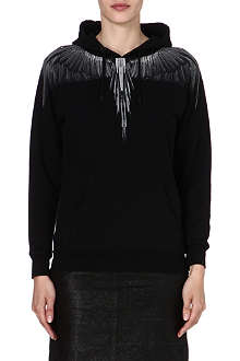 MARCELO BURLON Alas feather-print hoody