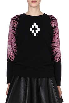 MARCELO BURLON Floral-print cotton sweatshirt