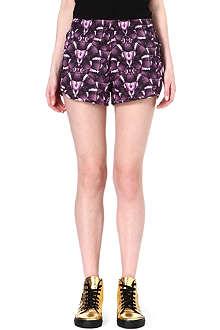 MARCELO BURLON Snake-print shorts