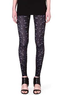 MARCELO BURLON Snake-print leggings