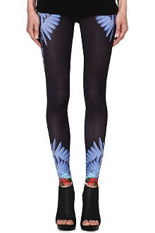 MARCELO BURLON Feather-print leggings