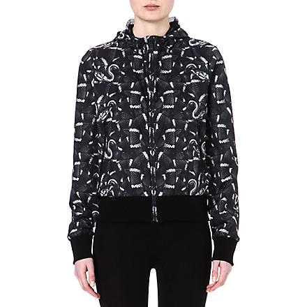 MARCELO BURLON Snake-print windbreaker jacket (Black