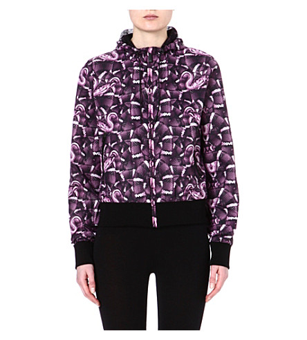 MARCELO BURLON Snake-print windbreaker jacket (Plum