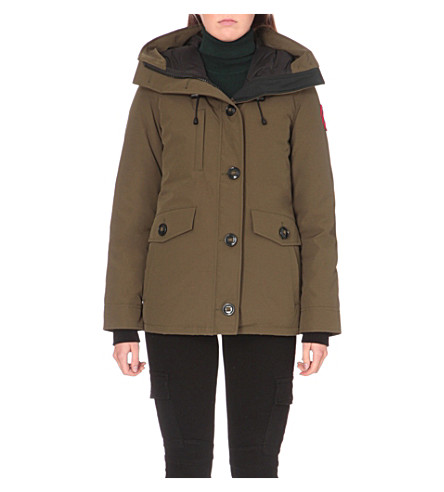 CANADA GOOSE Rideau padded parka jacket (Military+green