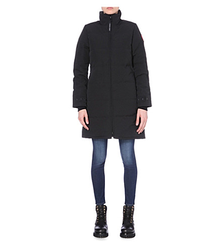 CANADA GOOSE Heatherton quilted shell coat (Black/graphite