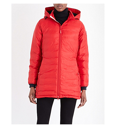 CANADA GOOSE Camp quilted jacket (Berry+red