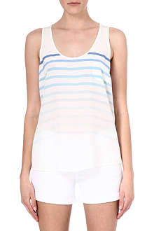 JOIE Silk ombré stripe top