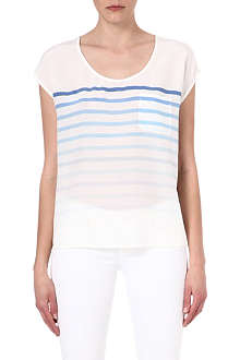 JOIE Silk stripe top