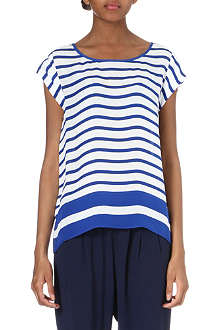 JOIE Terry striped silk top
