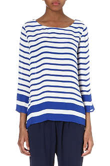 JOIE Garcey striped silk top