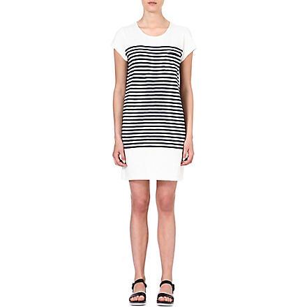 JOIE Courtina striped cotton dress (Porcelain/ dark navy
