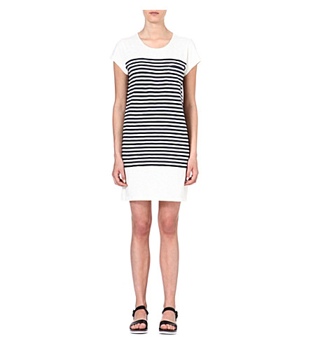 JOIE Courtina striped cotton dress (Porcelain/ dark navy