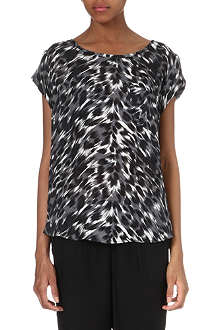 JOIE Rancher animal-print silk top