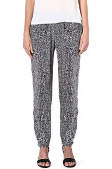 JOIE Talina dot-print silk trousers