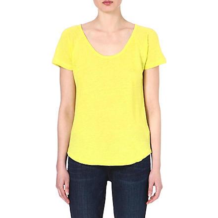 JOIE Violena linen t-shirt (Citrine