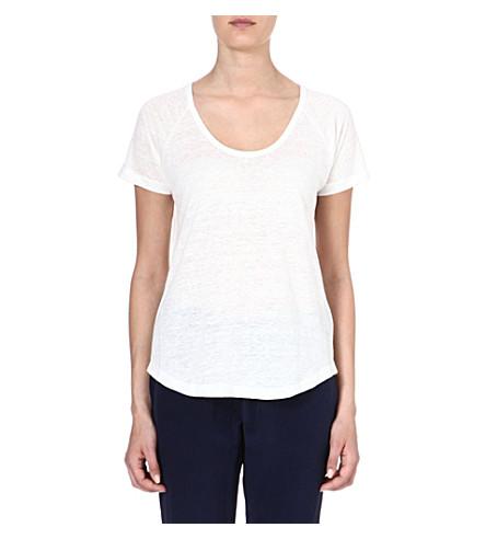 JOIE Violena linen t-shirt (Porcelain
