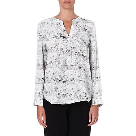 JOIE Peterson printed silk blouse (Caviar