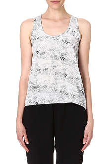 JOIE Keylen printed silk top