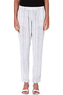 JOIE Juliette printed silk trousers
