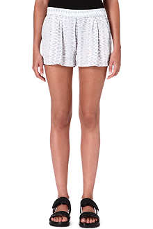 JOIE Percier printed silk shorts