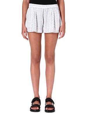 JOIE Percier printed silk shorts