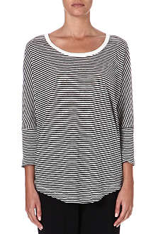 JOIE Ashlee striped linen top