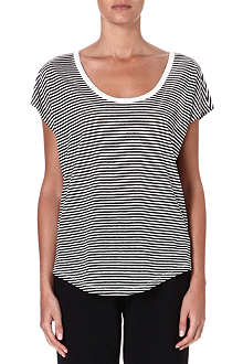 JOIE Darlen striped linen t-shirt