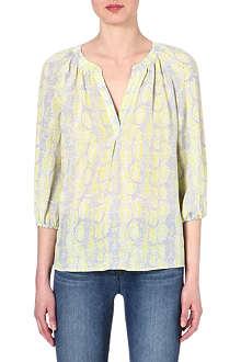 JOIE Addie python-print silk blouse
