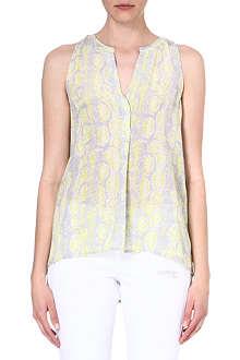 JOIE Aruna python-print silk top