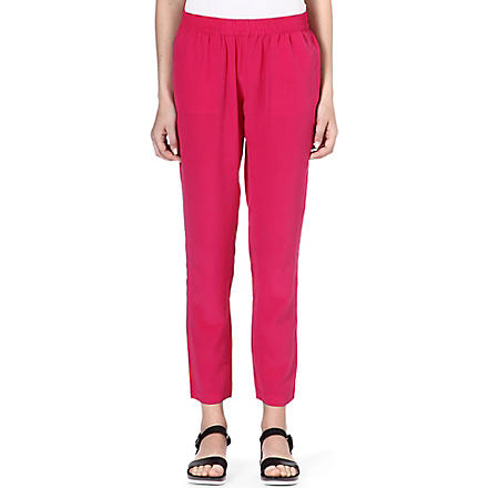 JOIE Juliette silk trousers (Bouganvillea